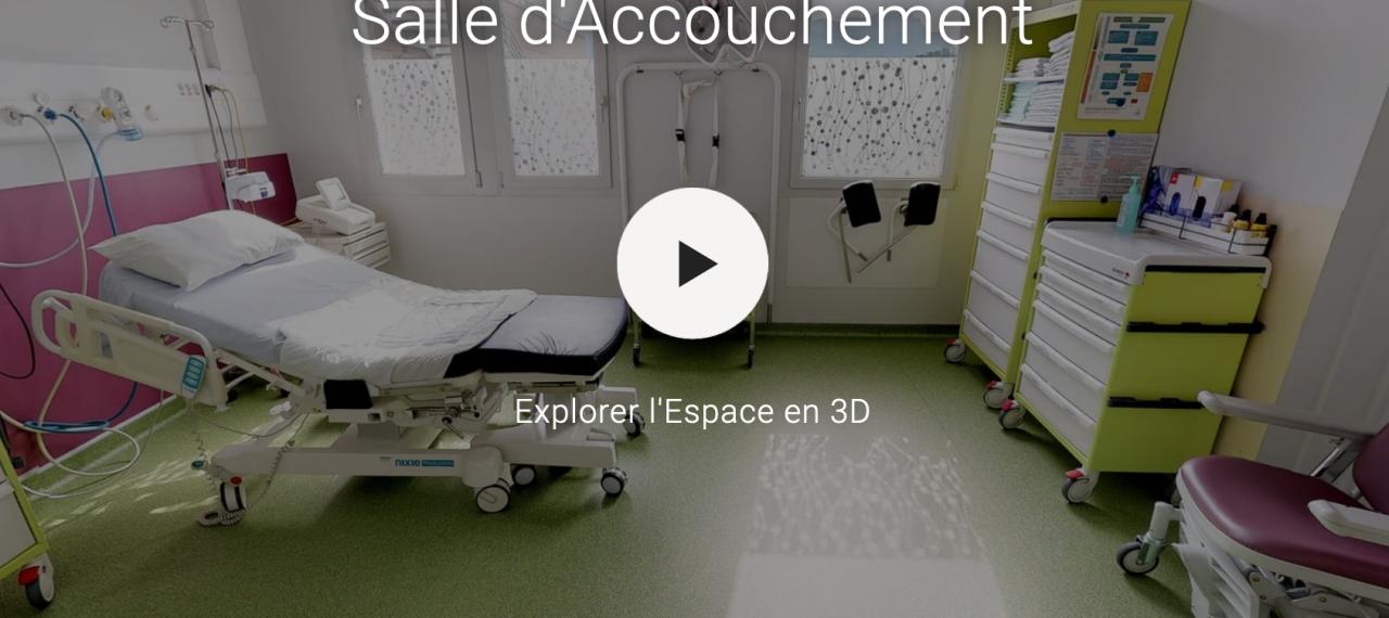 Visite virtuelle Maternité du CH Annecy Genevois
